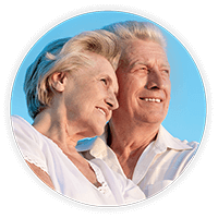 Older couple with cataracts