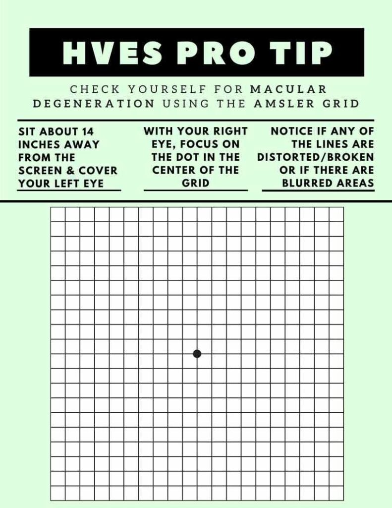 Macular Degeneration Amsler Grid Test